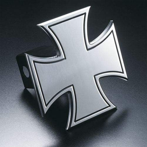 Billion_Store Iron Cross Hitch Cover with Border Billet Aluminum Best Accessories for Tuning