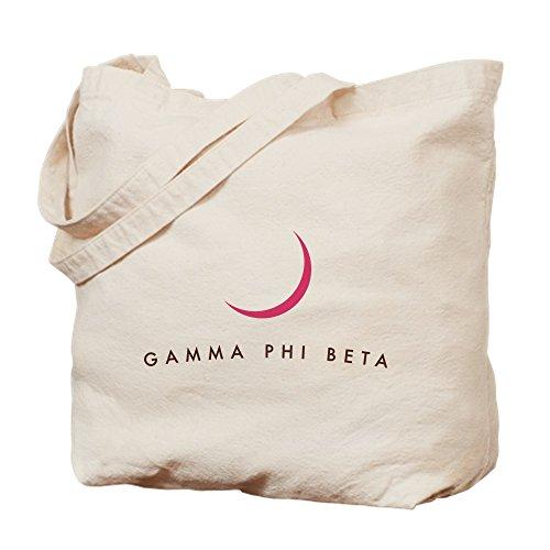 CafePress–Gamma Phi Beta media luna–Gamuza de bolsa de lona bolsa, bolsa de la compra