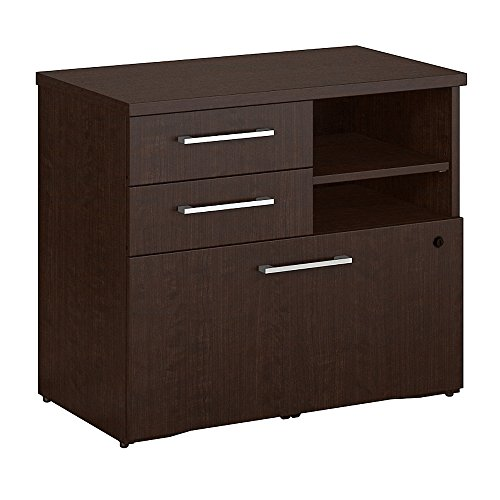 Bush Business Furniture 400 Series 30W Piler Filer Cabinet in Mocha Cherry by Bush Business Furniture