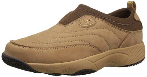 Propet Women's Wash N Wear Slip On Ll Walking Shoe, SR Mushroom Nubuck, 8 M US
