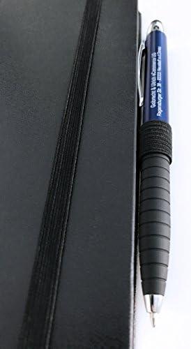 1x Stiftschlaufe–selbstklebender Stifthalter–elastisch–Schwarz–für Notizbücher, Zeitschriften, Terminkalender, Planer