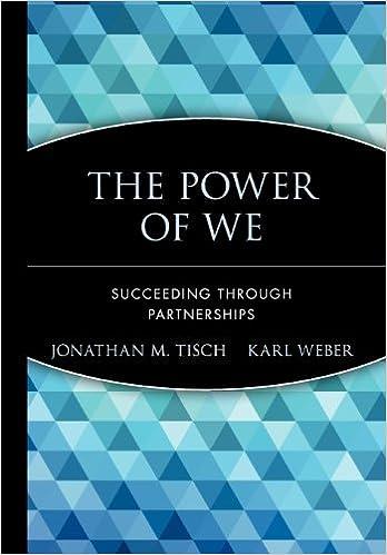 The Power Of We: Succeeding Through Partnerships: Jonathan M. Tisch, Karl  Weber, Karl Weber: 9780471652823: Amazon.com: Books