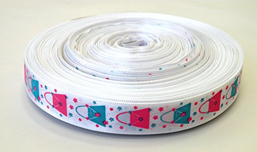 (Eastern Cloud 5/8 '' x 50 Yards - New! Grosgrain Ribbon Hairbows Decorated Printed,Great for Party Favors, Decorating, Scrapbooking,DIY, Gift Wrapping, Cheer, Belts, Pacifier Clips, Crafts)