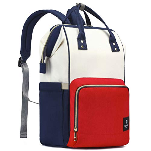 HaloVa Diaper Bag, Trendy Baby Nappy Backpack, Anti-Theft Tr