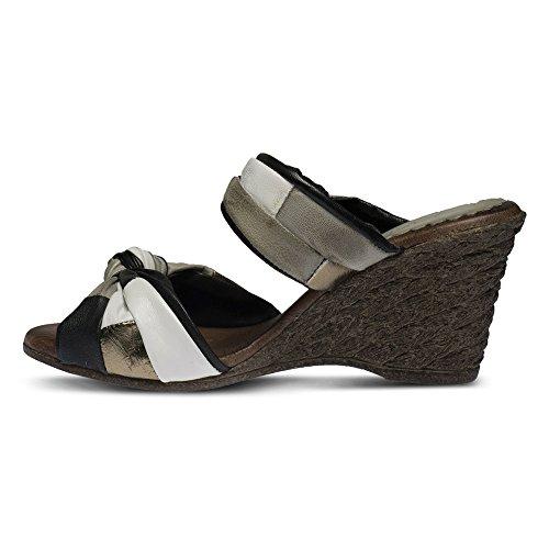 Azura Dames Bovenzijde Sandalen Zwart Multi Leer