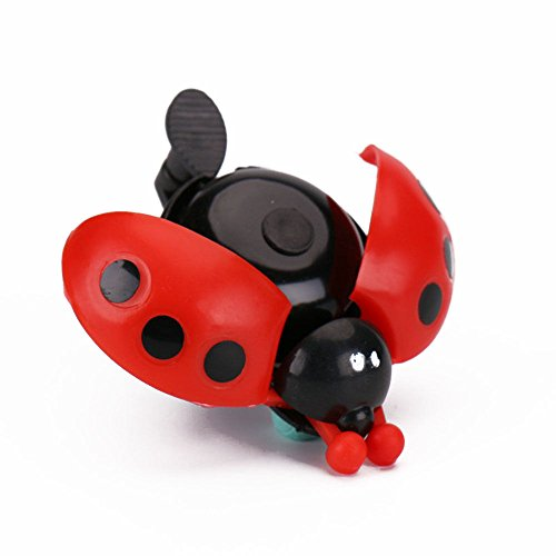 Price comparison product image UNAKIM-Cute Hot Kid Beetle Ladybug Ring Bell For Cycling Bicycle Bike Ride Horn Alarm