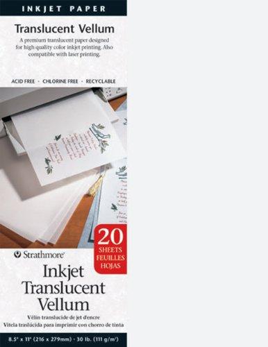 Strathmore Translucent Vellum Inkjet Paper, 8.5