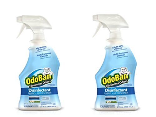 OdoBan Ready-to-Use 32oz Spray Bottle 2-Pack, Fresh Linen Scent - Odor Eliminator, Disinfectant, Flood Fire Water Restoration by OdoBan (Image #5)
