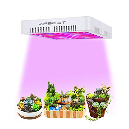 AFBEST 300W LED Indoor Grow Light Full Spectrum with UV&IR Double Cooling Fans for Indoor Greenhouse Plants Veg and Flower by AFBEST