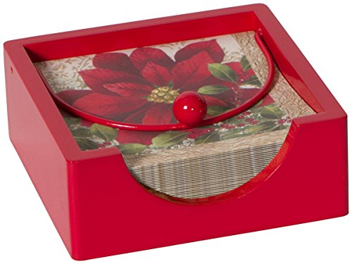 - C.R. Gibson Beverage Napkin Caddy, Red