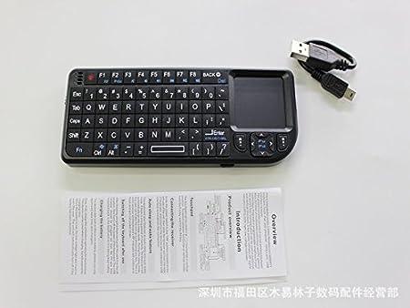 2.4g Wireless Mini Keyboard Touchpad Backlight for Smart Tv Samsung Lg Panasonic Toshiba and Pc/laptop Keyboard Touchpad: Amazon.es: Electrónica