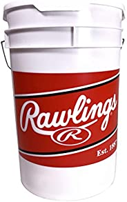 Rawlings Official League Competition Grade Youth Baseballs, Bucket of 24 ROLB1X Balls (Ages 14 & Under), W