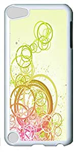 Abstract Circles 02 Custom iPod Touch 5 Case Cover Polycarbonate White