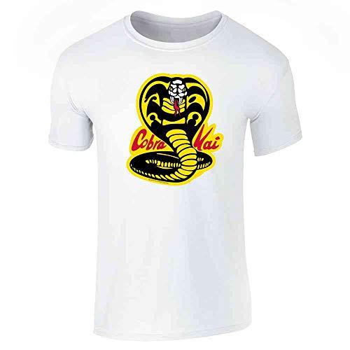 Cobra Kai Karate Kid Dojo Retro Martial Arts White L Short Sleeve -