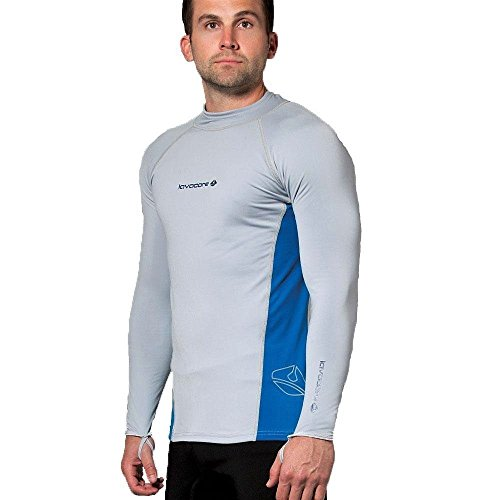 New Men's LavaCore Long Sleeve LavaSkin Shirt - Grey (Size Medium-Large) for Scuba Diving, Surfing, Kayaking, Rafting, Paddling & Many Other WaterSports by Lavacore