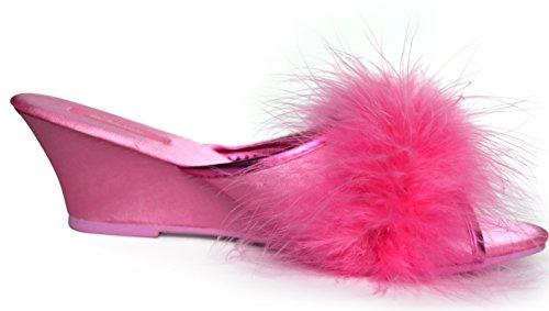Ezstep Womens Isabella Maribou Marabou Pantofole Rosa