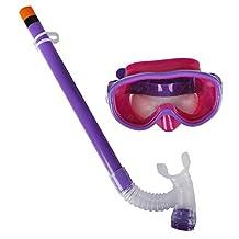 Herbalcandybox Kids Swimming Snorkel Diving Glasses and Snorkel Set Anti Fog Goggles