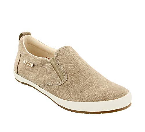 - Taos Footwear Women's Dandy Khaki Wash Canvas Slip On 8 M US