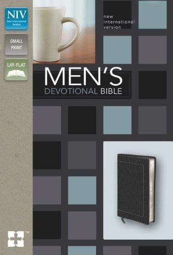 NIV, Men's Devotional Bible, Compact, Imitation Leather, Black
