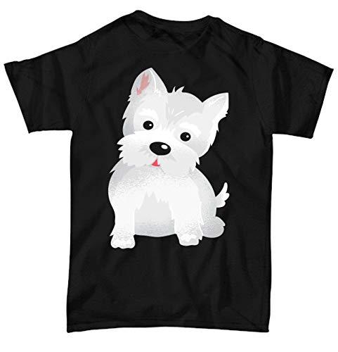 (Westie Lover Gift - Cute Animal Face Designs - 2XL Black Unisex Tee)