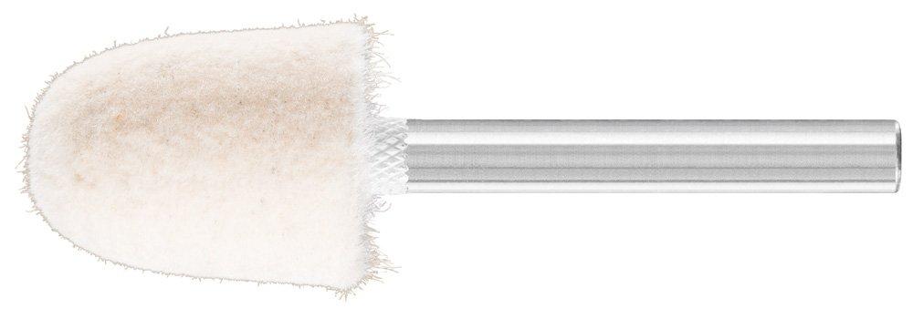 PFERD 48601 Conical Felt Point, Shape KEL, 3/4'' Diameter x 1'' Length, 1/4'' Shank Diameter x 1-5/8'' Shank Length, 23500 Max RPM (Pack of 10)