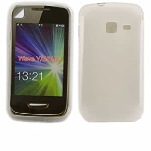 Gel Caso Cubrir Concha Y Protector De Pantalla Para Samsung Galaxy Wave Y S5380 / Off White