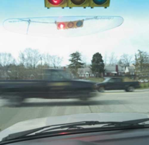 Light In Site Safety Windshield Len is a must for any driver having difficulty seeing overhead stop lights – makes seeing the light clearer and bigger and it's easy to install and remove. Mini Mania