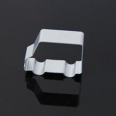 Cocina cortador de galletas herramientas de aleación de aluminio para galletas con forma de coche para tartas cortador molde para Navidad
