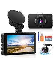 Dash Camera for Cars, Super Night Vision Dash Cam Front and Rear with 32G SD Card, 1080P FHD DVR Car Dashboard Camera with G-Sensor, WDR, Parking Monitor, Loop Recording, Motion Detection 【2020 New】