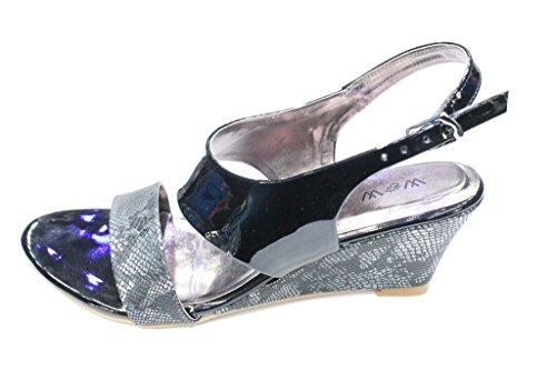 Women Ladies Crystal Diamante Evening Wear Sandals Shoes Size 4-9 (SAN239) Black 6JLo6pY46