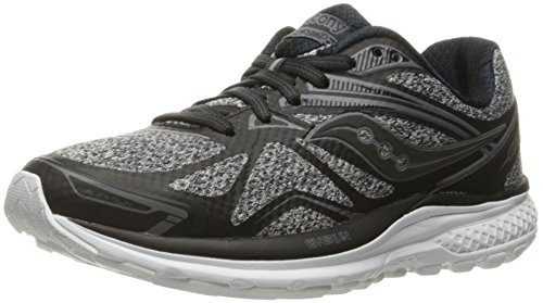 Saucony Women's Ride 9 Running Shoe, Grey/Charcoal/Combo, 7 M US