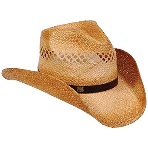 - Rt 66 Cowboy Raffia Hat Caramel Large/X-Large