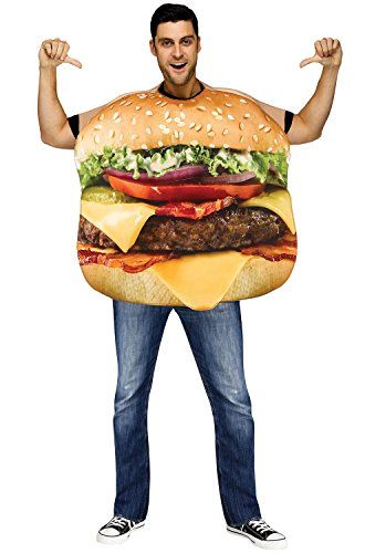 Fun World Men's Cheeseburger Adult Costume, Multi Standard for $<!--$29.97-->