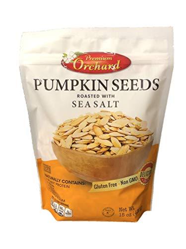 Roasted Halloween Pumpkin (Premium Orchard Pumpkin Seeds - Oven Roasted with Sea Salt - NEW)