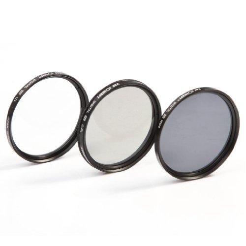 K&F Concept 62mm UV Slim ND4 Lens Filter Kit UV Protector Circular Polarizing Filter Neutral Density Filter for Sony Alpha A57 A77 A65 DSLR Cameras + Snap-On Lens Cap/Cap Keeper Leash + Filter Bag Pouch