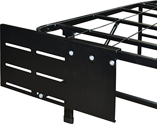 Flex Form Raised Platform Bed Frame Accessory: Universal Headboard/Footboard Brackets, Black, Set of 2 by Flex Form