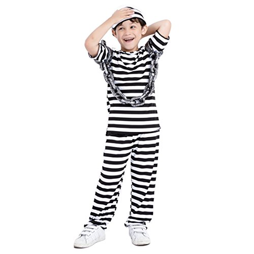Prisoner Halloween Costume Ideas (modesoda Halloween Party Black Costumes Prisoner for Kids Boys)