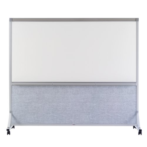 Marsh 64''x72'' Sea Mist Vinyl White Markerboard Double Duty Space Divider, Alum by Marsh