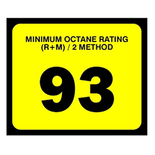 Decals (Pack of 5) - Octane Rating 93 (2.5