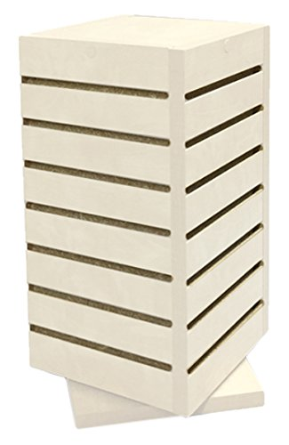 Wind Mill CTC-DS-White Retail Countertop Cube Slatwall Display Fixture, White