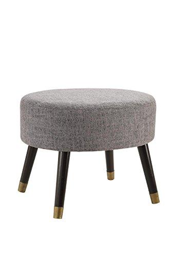 Convenience Concepts Designs4Comfort Gray Fabric Mid Century Ottoman Stool ()