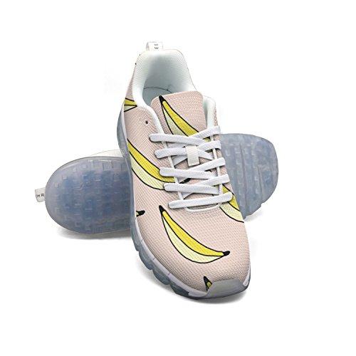 Faaerd Banan Båd Kvinders Åndbar Mesh Walking Sneakers Luft Pude Sportssko Åndbar Atletisk Løbesko GjL1eXoFy