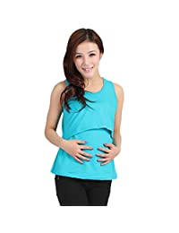 Lookatool Women's Pregnant Maternity Clothes Nursing Tops Breastfeeding Vest