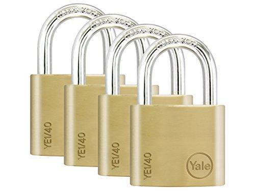 Yale Locks YALY12150 50 mm Brass Finish Padlock Closed Shackle 1