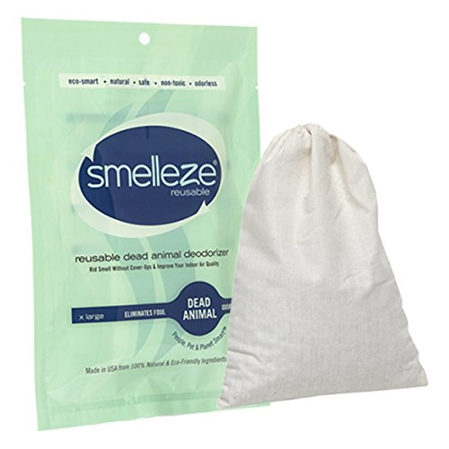 (SMELLEZE Reusable Dead Animal Smell Removal Deodorizer Pouch: Rid Decay Odor Without Scents in 150 Sq. Ft.)