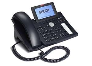 Snom Phone 370 - Teléfono fijo digital, negro [importado]