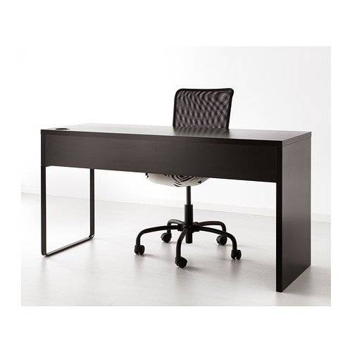 Ikea Computer Desk Workstation, Black-brown, MICKE 602.447.45