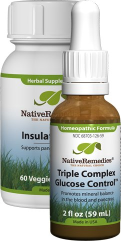 Native Remedies Triple Complex Diabetonic 2 fl oz and Insulate Plus