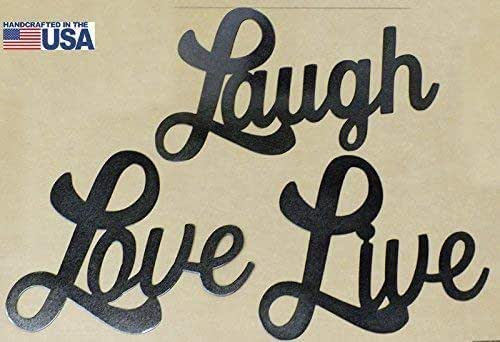 Amazon Com Live Laugh Love Wall Art Set Of 3 Metal Signs Great Gifts Photo Wall Handmade,Baby Shower Decorations For Girl Elephant Theme