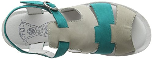Fly London Damen Yuni188fly Sandalen Grau (cloud / Verdigris)